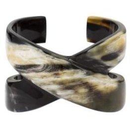 Buffalo Horn X Cross Cuff