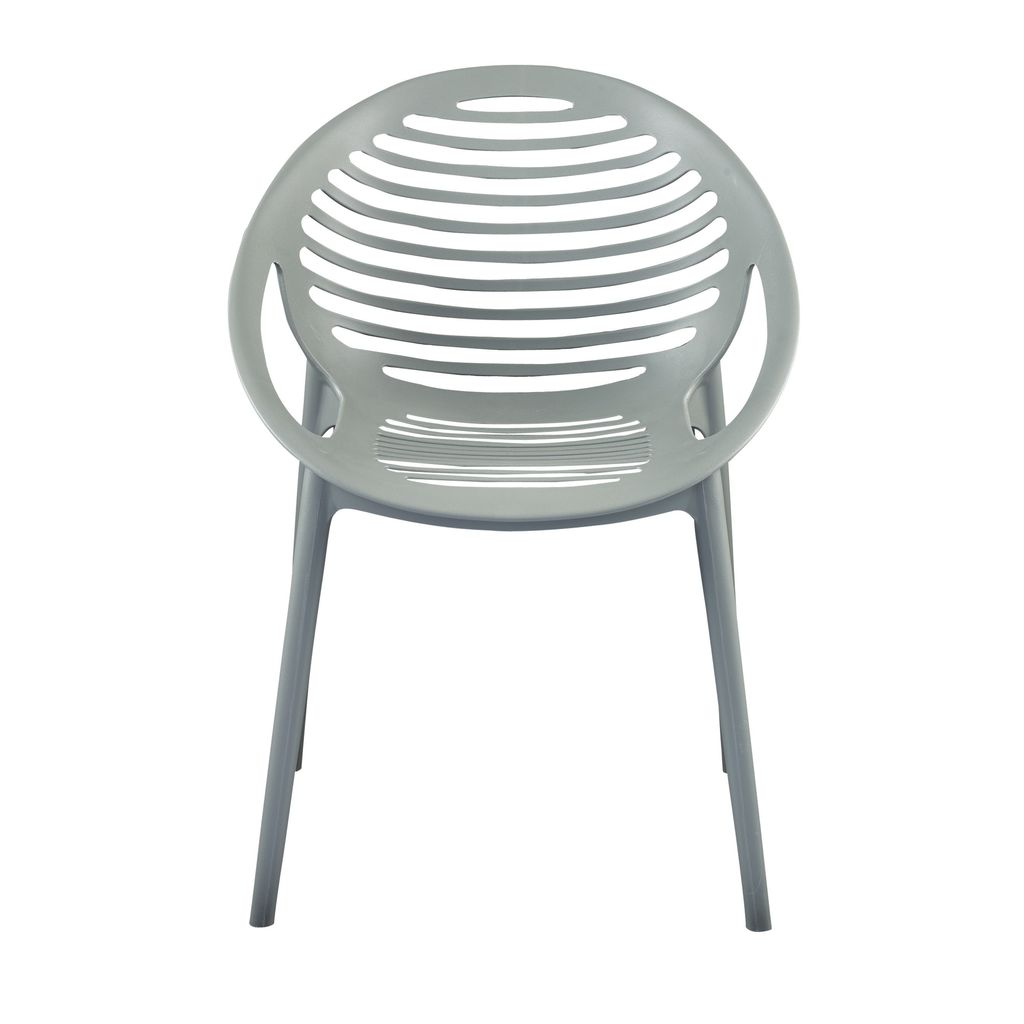 Eurostyle LIMA Stacking Arm Chair in Gray