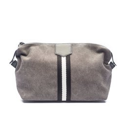 Original Toiletry Bag Grey w/Black/White Stripes