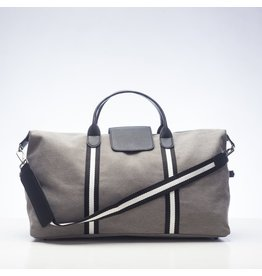 Original Duffel Bag Grey w/Black/White Stripes