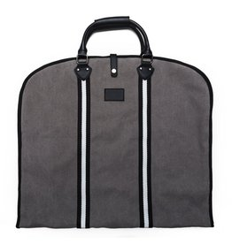Original Garment Bag Grey w/Black/White Stripes