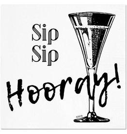 Sip Sip Hooray Cocktail Napkins