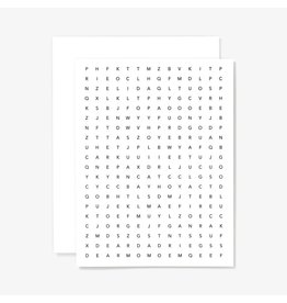 Letterpress Card: Wordsearch