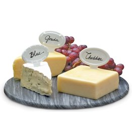 Porcelain Cheese Labels, Set of Six