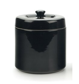 Stoneware Grease Keeper, Black