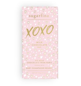 XOXO MILK CHOCOLATE BABY CHAMPAGNE BEARS® - CHOCOLATE BAR
