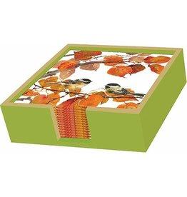 Paper Products Design BEVERAGE NAPKIN HOLDER WOOD MOSS/GOLD