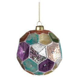 Dimpled Colored Ornament-Medium