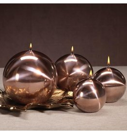 Titanium Ball Candle-Rose Gold 4.75in