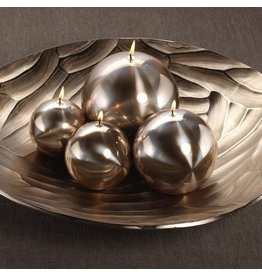 Titanium Ball Candle-Gold 3.5in