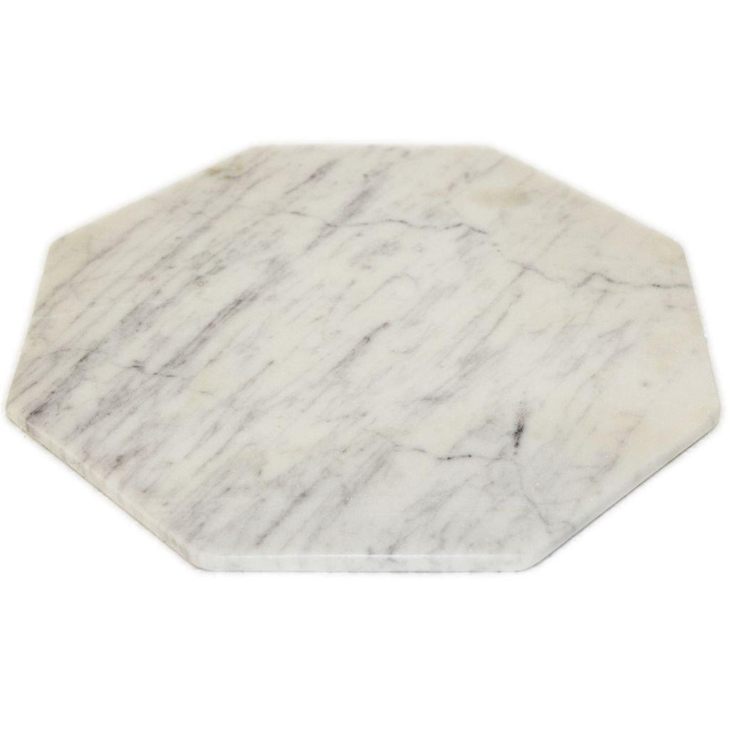 large octagonal marble trivet white considered items for a