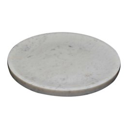Lg. Marble Plate/Bowl-White