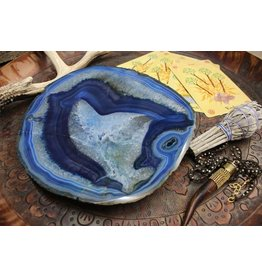 Rock Paradise Blue Dyed Agate Platter-Small