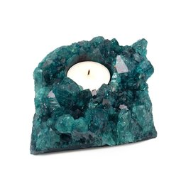 Rock Paradise Crystal Cluster Candle Holder-Teal