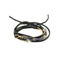 Mickey Lynn Labradorite Arrow Leather Wrap Bracelet