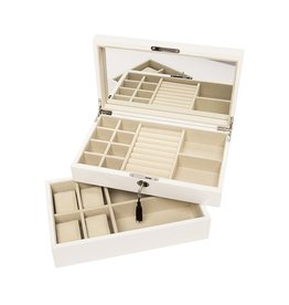 Stackable Jewelry Box - White