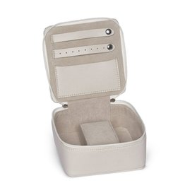Eva Travel Jewelry Box-Cream