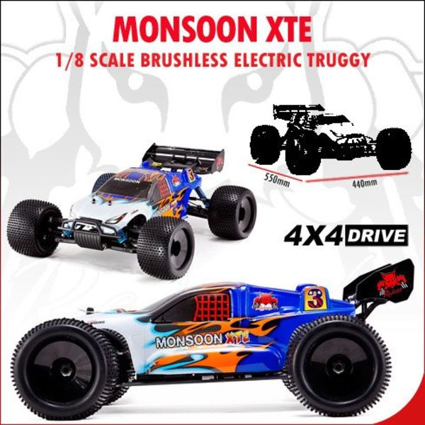 redcat Monsoon XTE Truggy 1/8 Electric (With 2.4GHz Remote Control)
