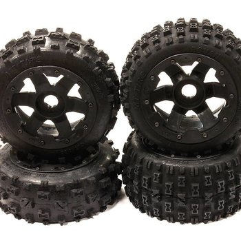 Integy Type F Wheel/Tire Set Baja 5B/5B2.0 (4)