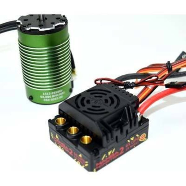 Castle Creations 010-0108-04 1/8 Monster 2 WP ESC + 2650KV Sensrd Motor
