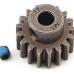 Gear, 17-T pinion 1.0 metric pitch fits 5mm shaft