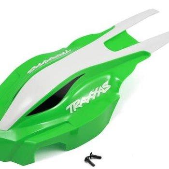 Traxxas Canopy, front, green/white - ATON