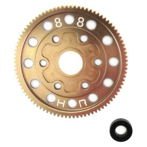 HOT RACING SCP888H Hard Anodized 88T Aluminum Spur Gear