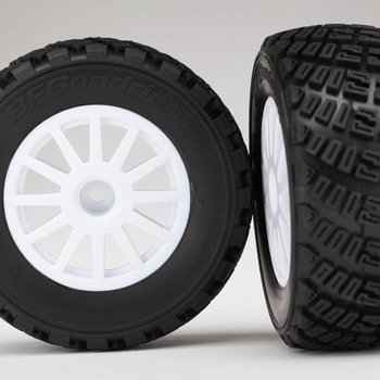 Traxxas tra7473r TIRES&WHEELS, ASSMB. GLUED (W. WHEELS, BFGOODRICH RALLY, GRAV PAT, S1 COMPOUND TIRES, FOAM INTS) (2)