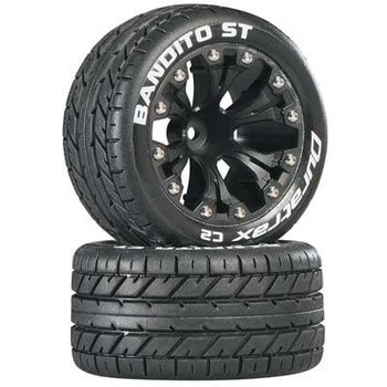 "DuraTrax Bandito ST 2.8"" Truck Mntd 1/2"" Offset C2 Blk (2)"