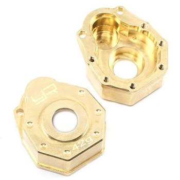 YEAH RACING TRAXXAS TRX-4 42G BRASS FRONT OR REAR PORTAL COVER