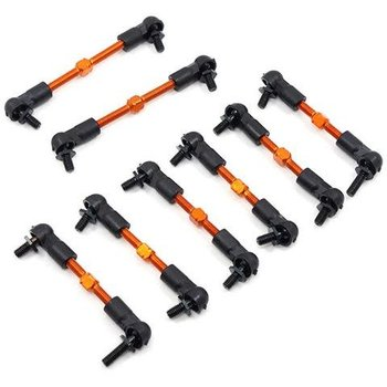 YEAH RACING SPT2-115OR YEAHRACING HPI SPRINT 2 ALUMINUM PREASSEMBLED TIE ROD SET - 8 PCS
