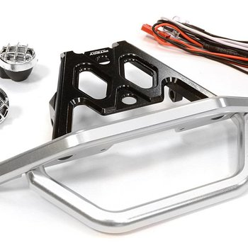 Integy BILLET MACHINED FRONT BUMPER SET W/ LED LIGHTS FOR AXIAL 1/10 YETI ROCK RACER C26043black