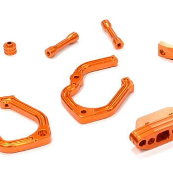 INT C25812ORANGE Rear Bumper Set 1/10 Telluride 4x4