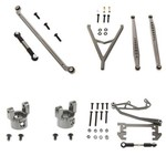 AXIAL SCX10 ULTIMATE ALLOY UPGRADE KIT BY ATOMIK RC - GUN METAL