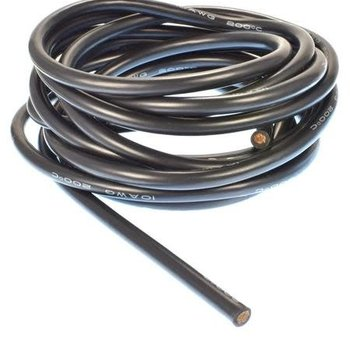 APEX Apex RC Products 3m / 10' Black 10 Gauge AWG Super Flexible Silicone Wire #