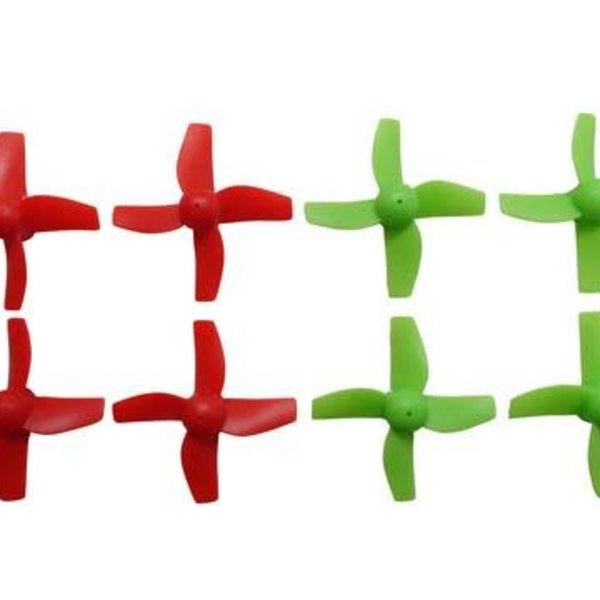 APEX Apex RC Products Blade Inductrix Bright Red / Neon Green CW CCW Props - 2 Sets (8 Props) #9060GR
