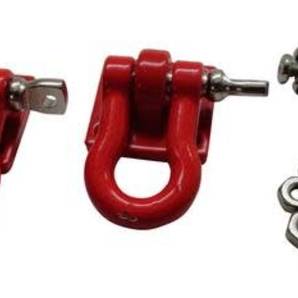 APEX Apex RC Products 1/10 RC Rock Crawler Scale Red Winch Shackles - 2pcs #4051