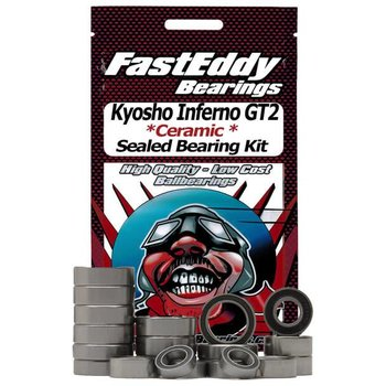 FAST EDDIE Kyosho Inferno GT2 Ceramic Rubber Sealed Bearing Kit