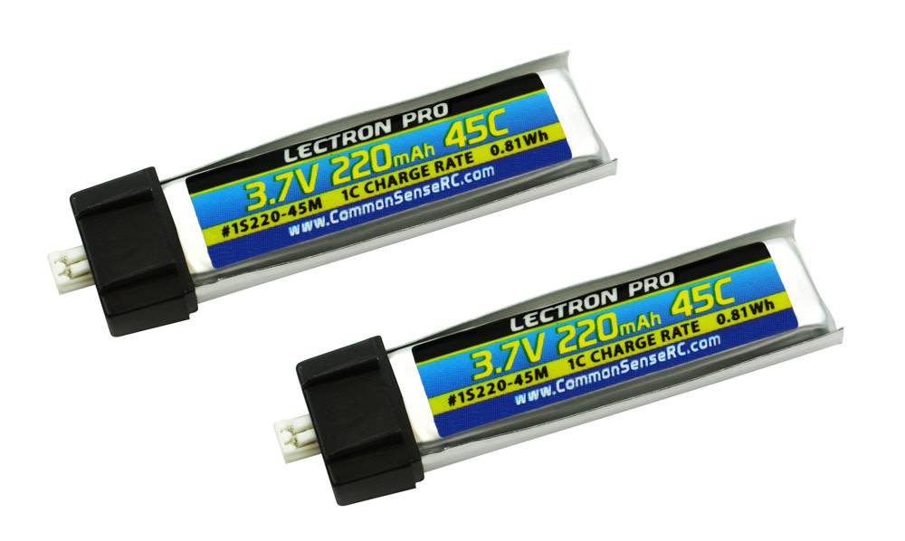 Lectron Pro 3 7v 220mah 45c Lipo Battery 2 Pack For Blade