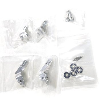 Integy INTT8148SILVER -Billet Machined Stage 1 Conversion for Traxxas 1/10 Rustler, Stampede, Slash 2WD