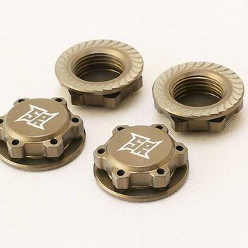 SWEEP sweep 17mm cap nut fine thread hard anodized serrated for grip