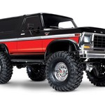 Traxxas 82046-4 - Ford Bronco RED BLACK: 4WD Electric Truck with TQi Traxxas Link Enabled 2.4GHz Radio System