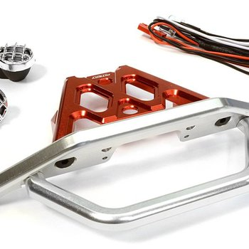 Integy C26043RED Front Bumper Set w/LED Lights 1/10 Yeti