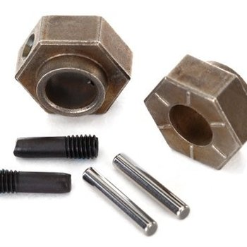 Traxxas 8269 Wheel hubs, 12mm hex (2)/ stub axle pins (2) (steel) (fits TRX-4)