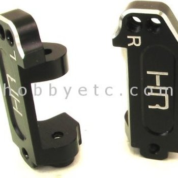 HOT RACING Black Aluminum Multi Mount Caster Blocks