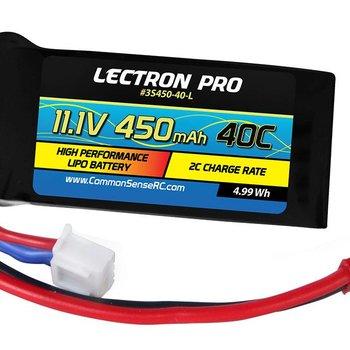 11.1 volt 450mAh 40c li-poly pack