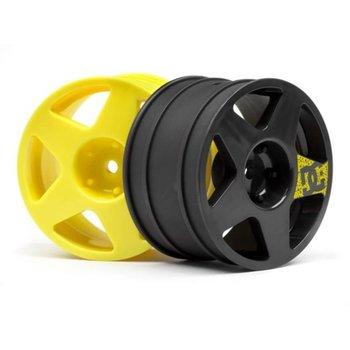 HPI WR8 Tarmac Wheel Set (4)