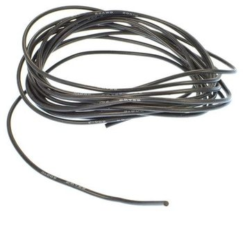 APEX APEX RC PRODUCTS 3M / 10' BLACK 22 GAUGE AWG SUPER FLEXIBLE SILICONE WIRE #1191
