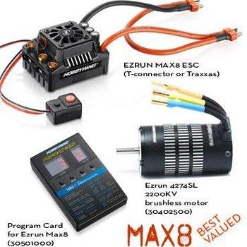 MAX8 Combo TRX-Plug ESC W/ EZRUN 2200KV Motor