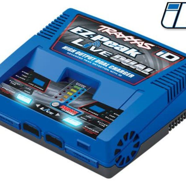 Traxxas 2973 - Charger, EZ-Peak Live Dual, 200W, NiMH/LiPo with iD Auto Battery Identification